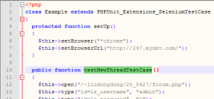 PHPUnit测试用例代码